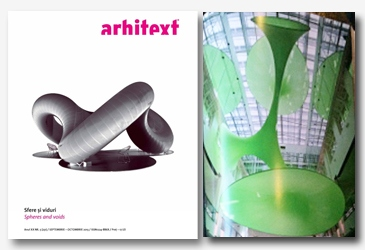 Spheres and voids - Green Void in Arhitext magazine