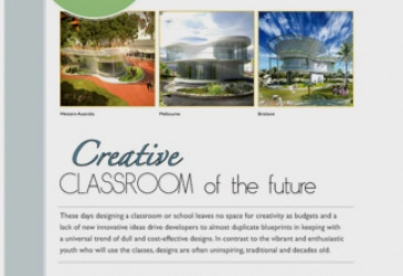 Classroom of the Future in 'Walls and Roofs' magazine, South Africa