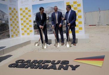 GERMAN PAVILION BREAKS GROUND
