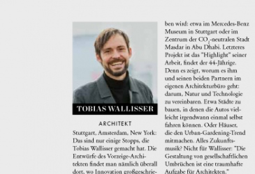 WALLISSER PROFILED IN GERMAN ELLE MAGAZINE