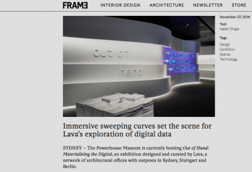 FRAME MAGAZINE FEATURES EXHIBITION