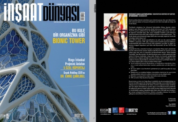 Bionic Tower on cover of İnşaat Dünyası